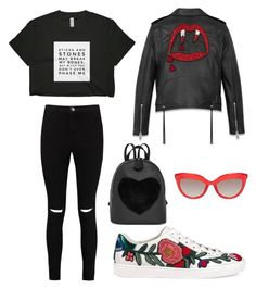 """""""14"""" by nyinthecityblog on Polyvore featuring Boohoo, Gucci and Yves Saint Laurent"""