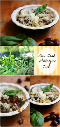 This aubergine tart (eggplant) is a low carb copy of the one I loved in Paris! Just 7.2 net carbs per serving and it's so good! from Lowcarb-ology.com