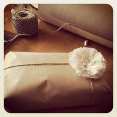 Vintage gift wrapping!