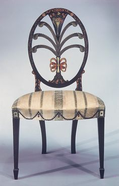 Painted Philadelphia side chair 1795-1800  A lovely work of art!