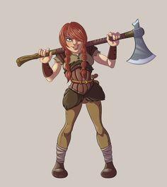 Female Viking Warrior by ElioFinocchiaro.deviantart.com on @DeviantArt