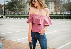 Ruffled Off the Shoulder Top • For the Love of Fancy