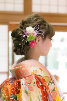 Braided Hairstyles, Wedding Hairstyles, Hair Arrange, Japanese Hairstyle, Models Makeup, Japan Girl, Japanese Outfits, Cute Fashion, Traditional Outfits