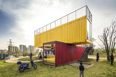 Gallery of Container Stack Pavilion / People's Architecture - 16