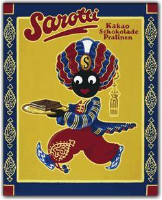 Sarotti Mohr - Figure of a chocolate Company. Vintage Ads, Vintage Posters, Sarotti Mohr, Nostalgia 70s, Chocolate Company, Arabesque, Childhood Memories, Cereal, History