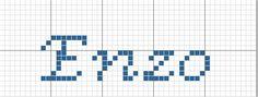 gráfico ponto cruz enzo nome