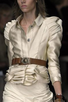 4. Burberry Prorsum Spring 2010: this jacket was inspired by the skirted jackets from the Italian Renaissance