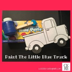 Paint the Little Blue Truck! The perfect activity to go along with reading Little Blue Truck. Little Blue Truck — Cute Kids Reading Books