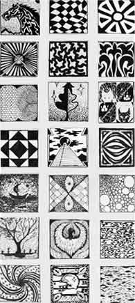 drawing using textures | Create eight a drawing of eight different textures on the worksheet.