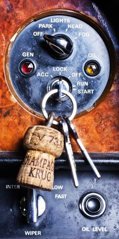 Champagne Cork on the keychain....
