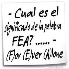 For ever alone! Ale, vete al traductor, corre. jeje