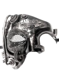 Steampunk Style Silver Phantom Half Face Men Masquerade Mask