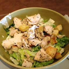 Grilled Chicken Caesar Salad from Panera Bread!!! U only understand this if you love panera!!! Haha <3