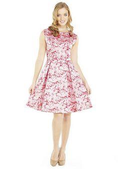 F&F Signature Floral Jacquard Prom Dress