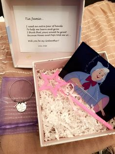 Will you be my godmother Godmother Gifts, Fairy Godmother, Godparent Gifts, Baptism Party, Proposal Quotes, Proposal Letter, Proposal Ideas, Daughter Of God, Baby Love