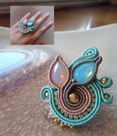#anello #ring #soutache #beadembroidery