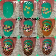 Easter eggs basket tutorial #nails #nail #fashion #style #TagsForLikes #cute #beauty #beautiful #instagood #pretty #girl #girls #stylish #sparkles  #gliter #nailart #art  #photooftheday #love #shiny #polish #nailpolish #nailswag #nailartist #art #drawing #watermarble #marbling