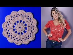 Crochet Blouse, Knit Or Crochet, Crochet Clothes, Crochet Necklace, How To Make, How To Wear, Clothes For Women, Lady, Stitches