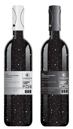 Wine packaging by Marie LECLEZIO Label and bottle design inspired by the constellations