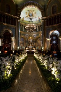 The a Wedding Event Wedding Reception Flowers, Church Wedding Decorations, Chapel Wedding, Ceremony Decorations, Wedding Bells, Wedding Ceremony, Wedding Venues, Dream Wedding, Wedding Church