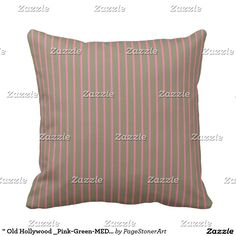 """"""" Old Hollywood _Pink-Green-MED-Pillow"""