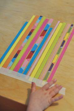Paper Weaving via Kathy Bell – Lu-Lu – art therapy activities Third Grade Art, Arts And Crafts, Paper Crafts, Paper Weaving, Art Therapy Activities, School Art Projects, Middle School Art, Preschool Crafts, Preschool Ideas