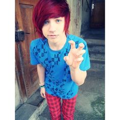 Scene Boys With Red Hair ❤ liked on Polyvore featuring people, boys, guys, pictures and cute guys
