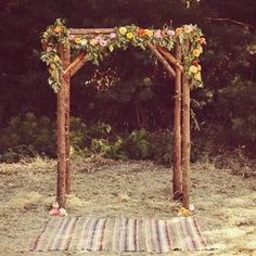 rustic flower chuppah. maybe too rustic depending on venue?