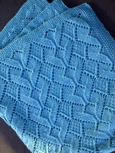 Sand Dunes Baby Blanket By Inna Tychinina - free knitting pattern