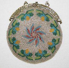 1800-1825 Beaded Bag