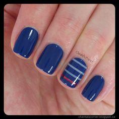 Busy Girl's Summer Nail Art Challenge Week 1 - Stripes ~ Chantal's Corner