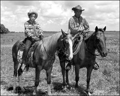 Seminole Indian cowboy Charley Micco and grandson Fred Smith on horseback in a cattle ranch: Brighton Reservation, Florida. (1950) The Seminoles and Creek Native American Cowboys were famous for their handling of horses. The Native American Horse Doctors were the most respected of all animal handlers before and after the Civil War.