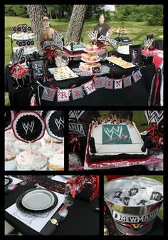 WWE Birthday Party Decor