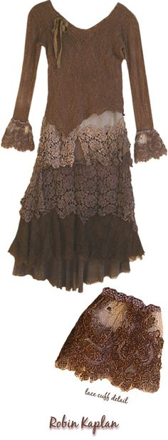 Lace ~~ Browns, and check out that add on cuff~