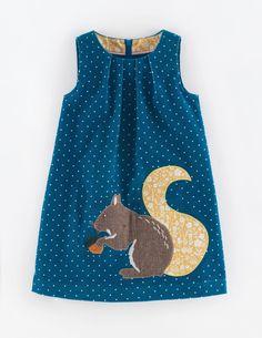 Mini Boden Animal Applique Dress (Toddler Girls, Little Girls & Big Girls) Mini Boden, Boden Uk, Little Girl Fashion, Kids Fashion, Little Girl Dresses, Girls Dresses, Party Dresses, Baby Dress Patterns, Applique Dress