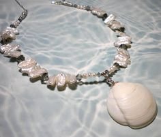 I love to play with the shells I find, and see just what I can come up with. I specialize in unique, and feminine pieces. I use genuine fres...