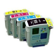 Remanufactured ink Cartridge for HP 88XL officejet pro K5300 K5400(4-color)