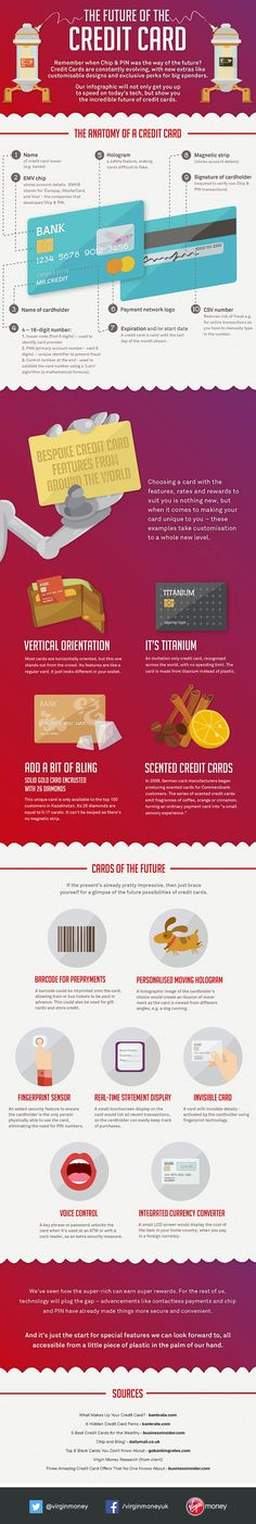 The Future of the Credit Card   #Infographic #CreditCard #Technology