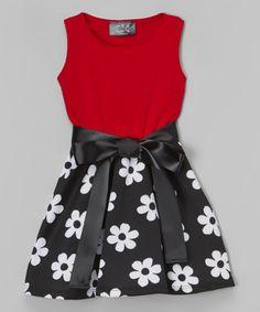 Black & Red Floral Dress - Infant, Toddler & Girls #zulily #zulilyfinds