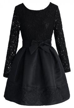 The Lace Valse Black Dress
