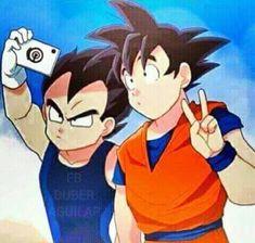 jajajaja goku y vegeta ilv❤👑💕 Goku Y Vegeta, Son Goku, Dragon Ball Z, Manga, Kawaii Anime, Chibi, Artwork, Spiders, Ladybug