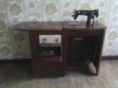 A treadle sewing machine bought at Emmaüs charity shop in Brive