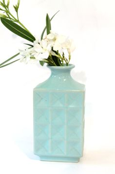 Vintage Weller Faceted Pottery Vase by modfolk on Etsy, $36.00