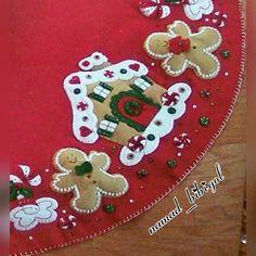 Resultado de imagen de pie de arbol navideño moldes
