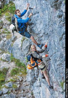 Try rock climbing is an adventurous first date idea for an outdoor date.