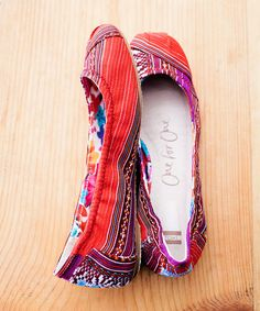 South American-inspired TOMS ballet flats