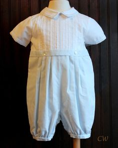 Baptism baby outfit in White or Baby Blue - Christening Wardrobe Boy Baptism Outfit, Baptism Dress, Christening Gowns, Special Occasion Outfits, Traditional Outfits, Baby Boy Outfits, Baby Blue, Short Sleeves, Blue And White