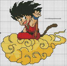 Counted Cross Stitch Patterns, Cross Stitch Designs, Cross Stitch Embroidery, Embroidery Patterns, Cartoon Movies, Cartoon Kids, Dragon Ball Z, Kawaii Cross Stitch, Modele Pixel Art