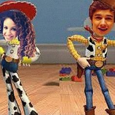 Liam Payne and Danielle Peazer as Woody and Jessie Like if you love Toy Story! Whats your favorite Toy Story 1 2 or 3?