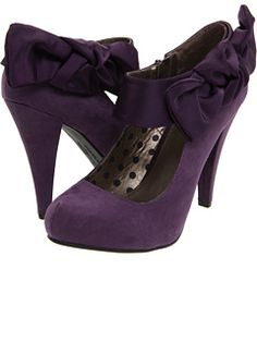 Just got these for Chellcee's Wedding (Hard to find cute purple shoes (;)